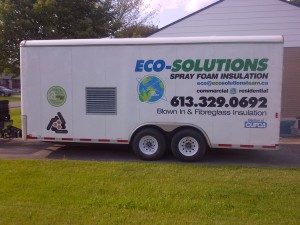 Spray foam trailer