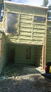 Bone House structure spray foam