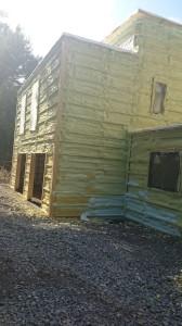 Bone Home Structure, spray foam exterior