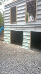 During Spray Foam Insulation